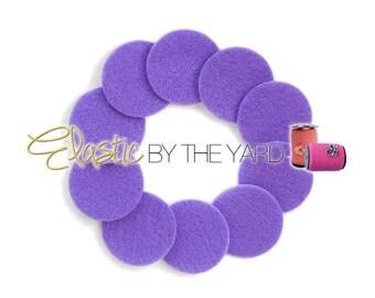 Adhesive Felt Circle backings for Baby Headbands - Pack of 10 Purple Felt Cirles
