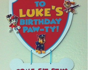PAW PATROL Birthday Party Door Sign