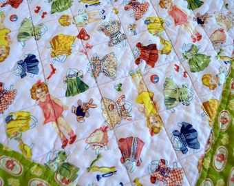 Baby Quilt, Paper Dolls Fabric