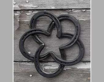 FREE ship! Horse shoe star ~  handmade horseshoe star ~ authentic steel shoes ~ each one unique - ship free to USA
