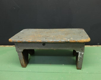Antique Wood Step Stool /Bench/ tabletop display