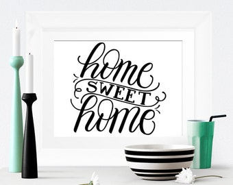 Art print  - Home sweet home