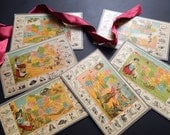 Antique French Geography Lotto Cards