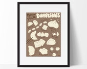 Dumplings Poster, Food Art Print, Kitchen Wall Art, 11x14 Kitchen Decor, Foodie Gift