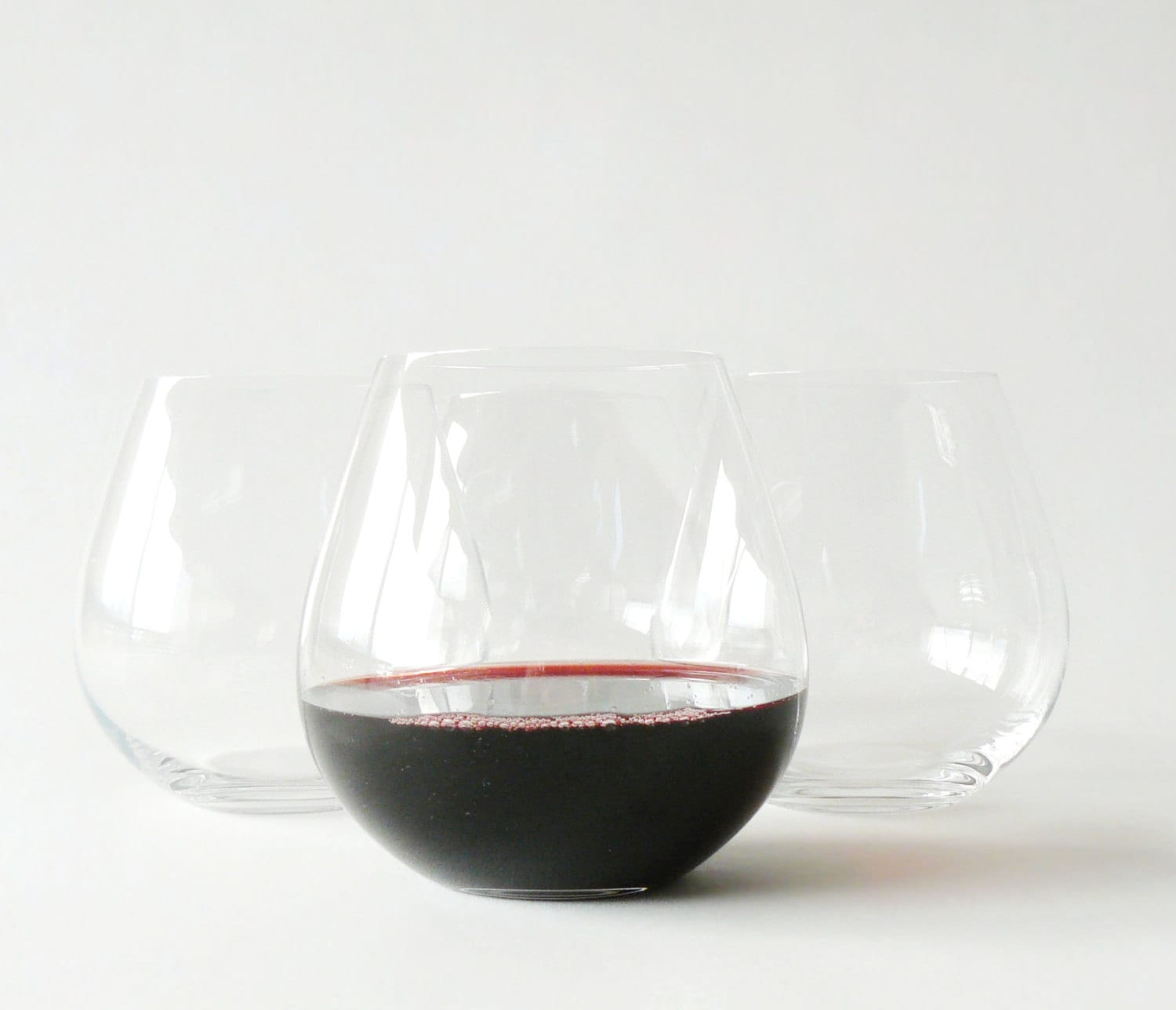 Riedel stemless wine glasses set of 4 tumblers - Stemless wine goblets ...
