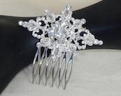 Bridal rhinestone haircomb,Decorative haircomb,Bridal rhinestone hairpiece,Bridal rhinestone hairpiece,Wedding headpiece,Wedding hairpiece