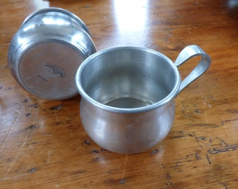 Two International Pewter Mugs