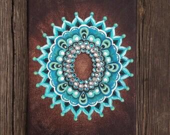 Mandala Acrylic Painting Etsy