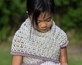 Child Triangle Scarf with Button   Shawl Cowl   Girls Accessories   Fashion Scarf   Fall Winter Spring   Prayer Shawl   Girl Lady Women