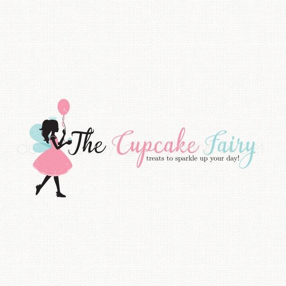 Design Your Own Cake Logo : Fairy Logo Design Silhouette Logo Design Party Decor Logo ...