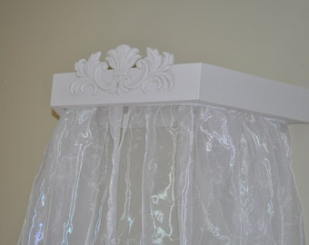 Bed Crib Canopy Crown Cornice with 2 panels included /Ready to ship