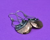 Chrissy Earrings - Mixed Metal Copper and Sterling Silver
