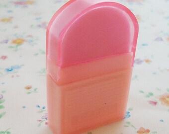 Neon Pink Japanese Cased Eraser. Club.80s