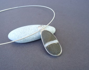 Beach Jewelry, Stone Jewellery, Beach Stone Jewelry, Beach Stone Pendant, Beach Pebble Jewelry, Beach Pebble Pendant