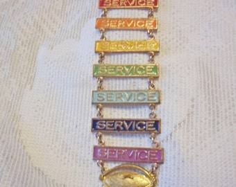 Vintage 1940's ORDER of RAINBOW Merit Service Pin