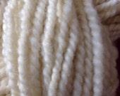 White Wensleydale wool yarn handspun worsted weight yarn