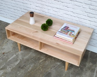 20 % Off! IN STOCK!!! Oxelaand Coffee Table in Solid Brown Maple - Mid Century Modern Style