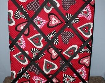Crazy Hearts Memory Board  Love Decor  Hearts Decor  Valentines Day Gift   RedRed room decor   Etsy. Red Room Decor. Home Design Ideas
