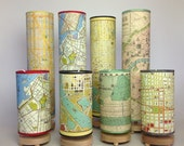 Tall Map Lamp of Maine