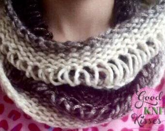 Loom Knit Drop Stitch Cowl   Spring Vine Cowl PATTERN