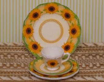 Miniature Sunny Afternoon Dishes Kit