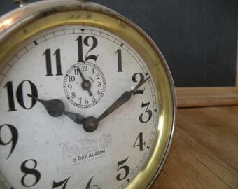1940's The National Call alarm clock Vintage charm Farmhouse decor