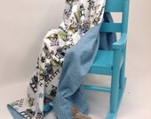 Ultra Soft Minky Choo Choo Train Baby Blanket