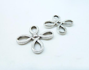 20pcs 22x23mm Antique Silver Chinese Knot Connector Link Charms Pendant c7006