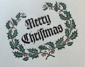 """Hand-Set Letterpress """"Merry Christmas"""" Cards - 10-pack - A2 size"""