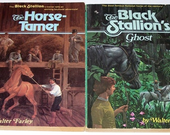 The Horse-Tamer & The Black Stallion's Ghost by Walter Farley, paperback
