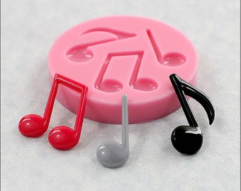 Musical Notes Mold Mould for Resin, Fondant, Candy, Wax, Polymer Clay, Chocolate (362)