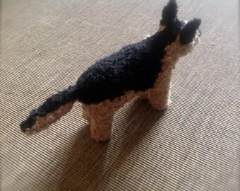 Custom knitted medium size dog
