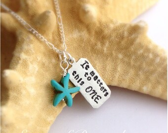 Adoption Matters to this ONE Starfish Story Necklace Foster Parent, Ministry, Teacher Gift