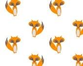 FOX crib sheet- woodland baby bedding- crib fitted sheet - changing pad cover- forrest baby sheet- orange crib sheet animals