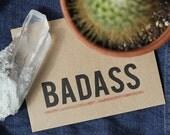 Badass Card - Recycled Greeting Card