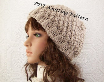 Instant download knitting pattern - adult hat, beanie - knitted hat pattern - DIY hat pattern - PDF instant download pattern