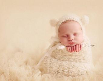 Newborn Polar Bear Bonnet