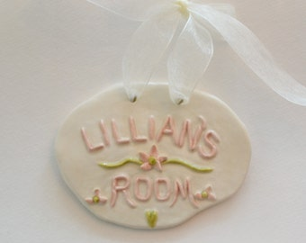 Custom Personalized Baby/Children's Ceramic Name Plaque