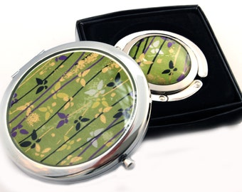 Chiyogami Mirror and Purse Hook Set - FlutterBy