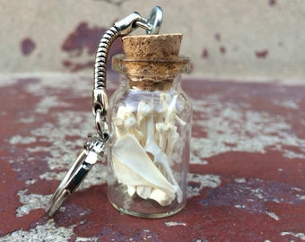 Bottled Rodent Bones Keychain