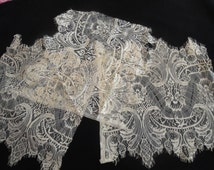 Three Pieces of Tea Color Floral Stretch Nylon Lace Trim Bridal Wedding Eyelash Victorian Style Leaver Scalloped for Lingerie Sewing 86