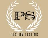 Reserved Custom Listing: Franny