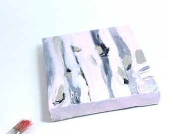 striped pink silver- modern art piece- wall art- artist dream in acryl- soft pastel pink paint- pastel interior art- grey pink lined work