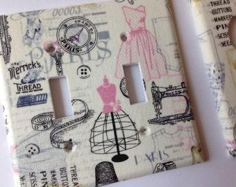 Paris Light Switch Cover / Paris Double Toggle Light Switchplate / Paris Bedroom Decor / Paris Nursery Decor/ Sewing Room Decor/ Bathroom