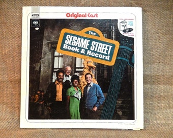 "SESAME STREET - The Sesame Street Book & Record...24 Page Book - 1970 Vintage Vinyl Record Gatefold Album...w/Giant 22'x 28"" Colored Poster"