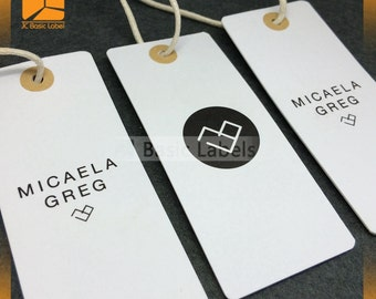 1000 Custom hang tags, Custom price tags, Hang tag design, Clothing hang tags