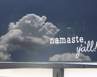 Namaste, y'all!  Car decal or window cling