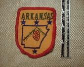 Vintage Arkansas State  Travel Souvenir Patch