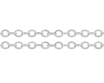 Sterling Silver 2.5x2mm Corrugated Cable Chain - 20ft (2499-20)/1