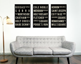 Indianapolis Art, Subway Art, City Art, Quote Sign, Home Decor, Typography Print, Room Art, Modern Art, Rustic Home Decor, Typography Poster